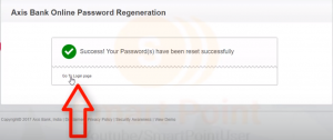 AXIS-Bank-Password-Reset-Message