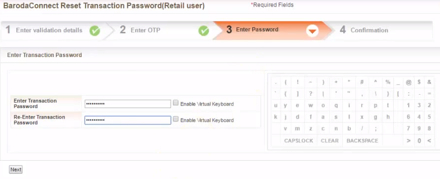 Bank-of-Baroda-Enter-New-Password