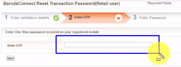 Bank-of-Baroda-Enter-OTP-Number