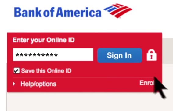 Bank-of-America-Sign-In-Interface